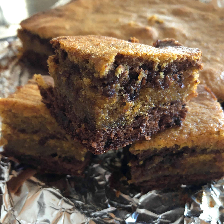 Delicious Pumpkin Brownies - Thanksgiving Desserts