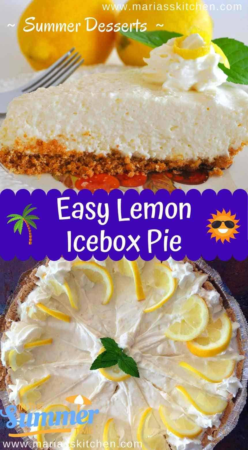 Easy Lemon Icebox Pie - Summer Desserts
