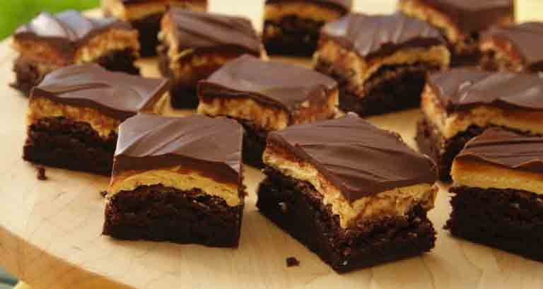 Easy & Delicious Peanut Butter Truffle Brownies - Thanksgiving Desserts